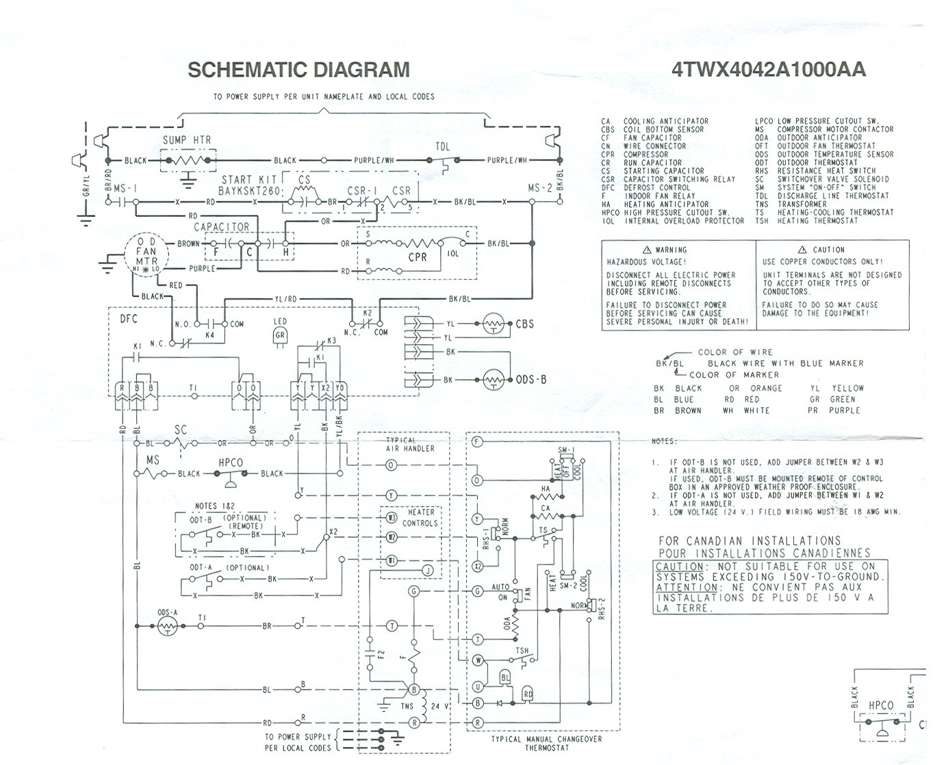 hp correct tstat wiring for xl14, defrost cycle trouble trane heat strip wiring diagram at bayanpartner.co